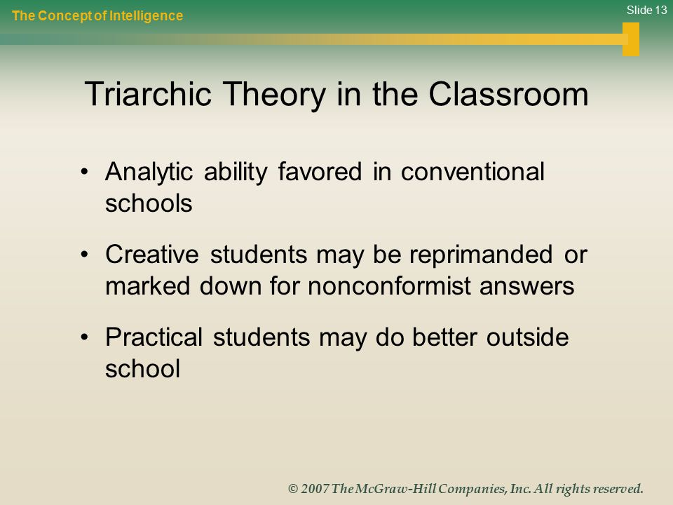 Triarchic Theory in the Classroom