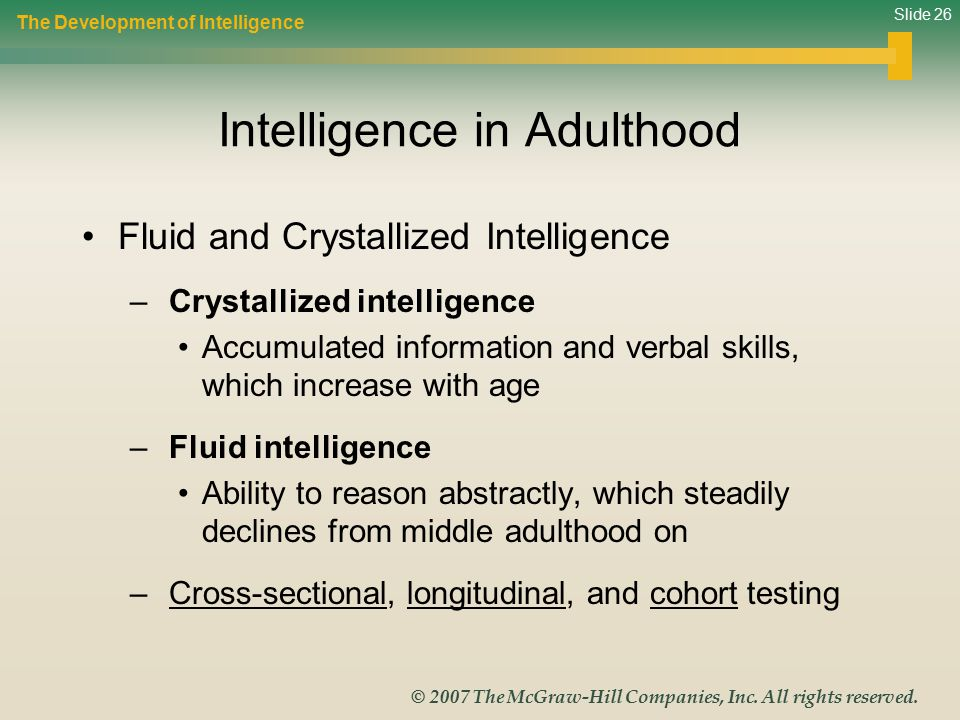 Intelligence in Adulthood