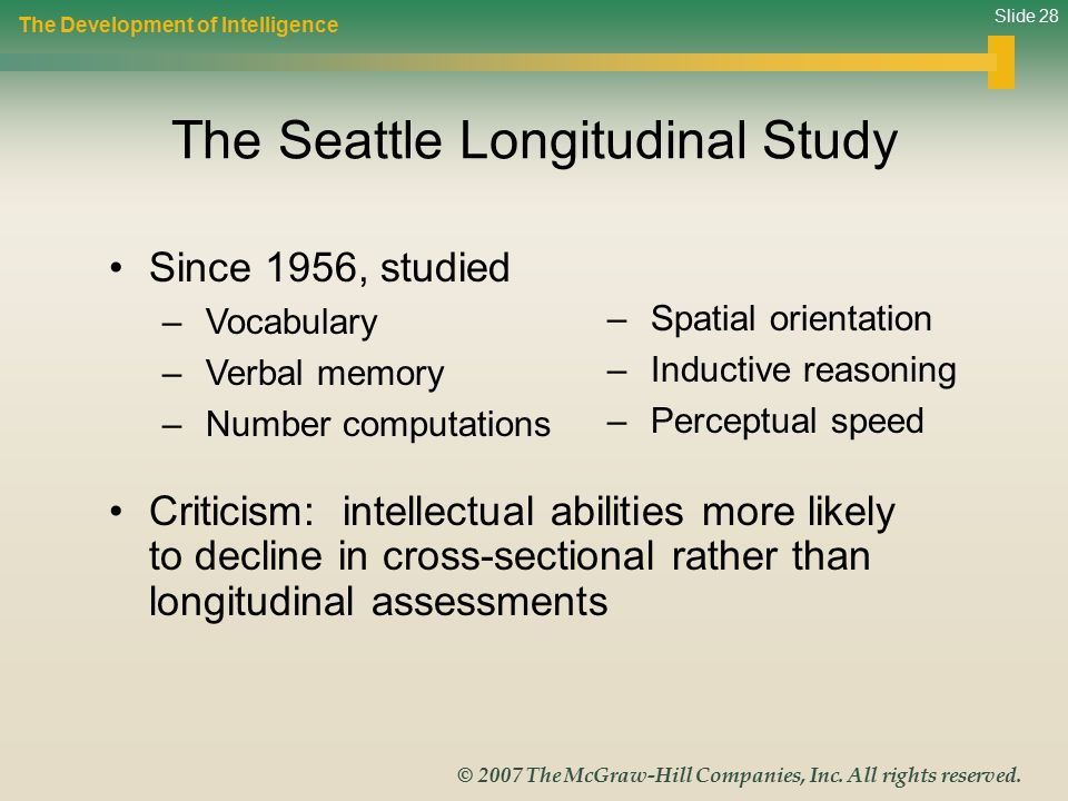 The Seattle Longitudinal Study