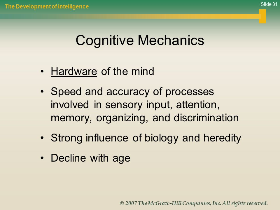 Cognitive Mechanics Hardware of the mind