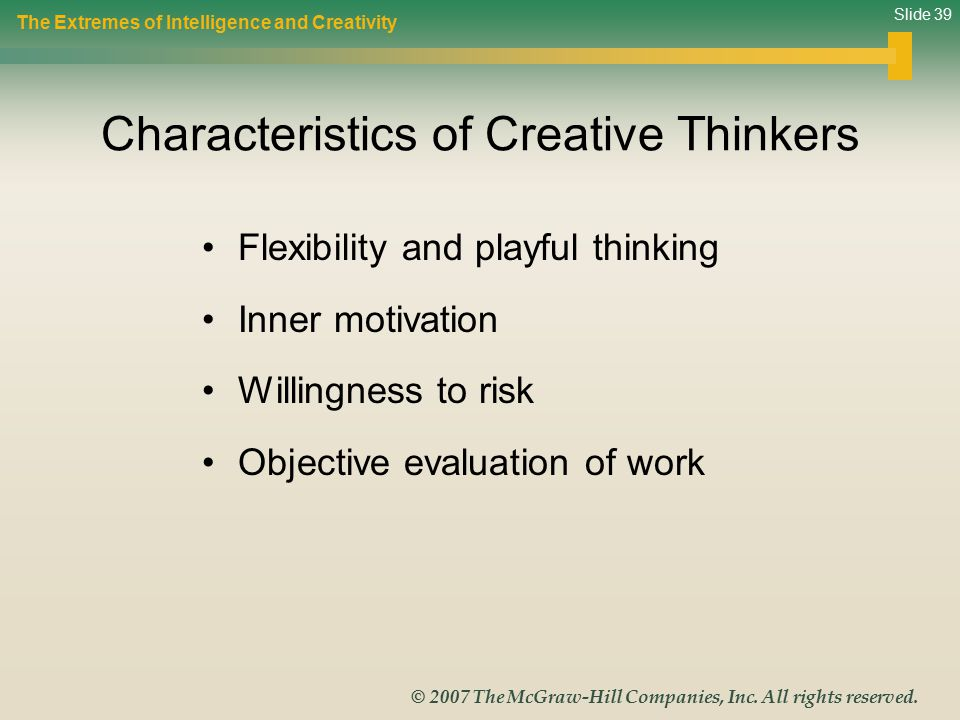 Characteristics of Creative Thinkers