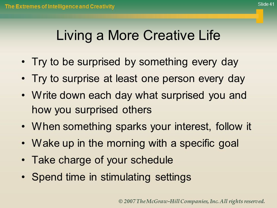 Living a More Creative Life