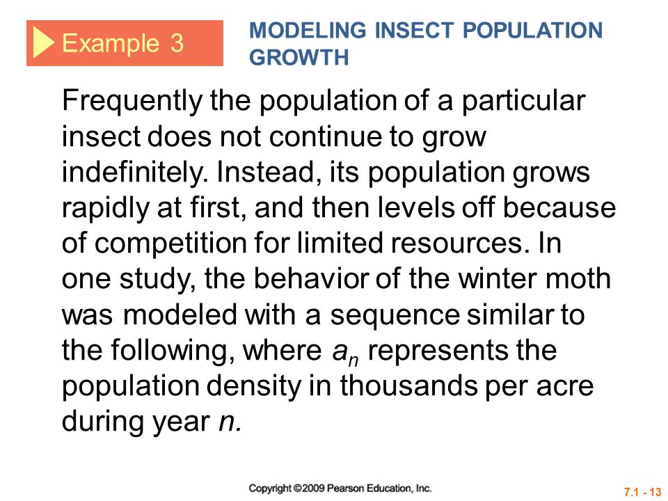 MODELING INSECT POPULATION GROWTH