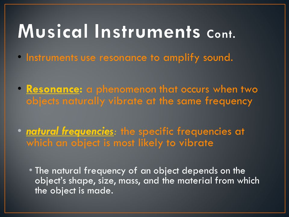 Musical Instruments Cont.