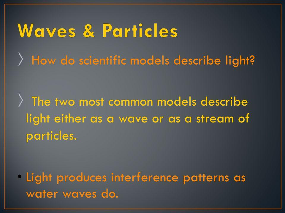 Waves & Particles How do scientific models describe light