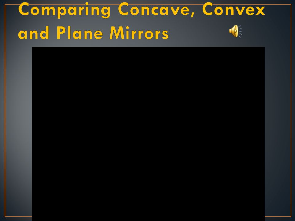 Comparing Concave, Convex and Plane Mirrors