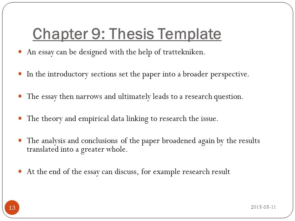 Chapter 9: Thesis Template