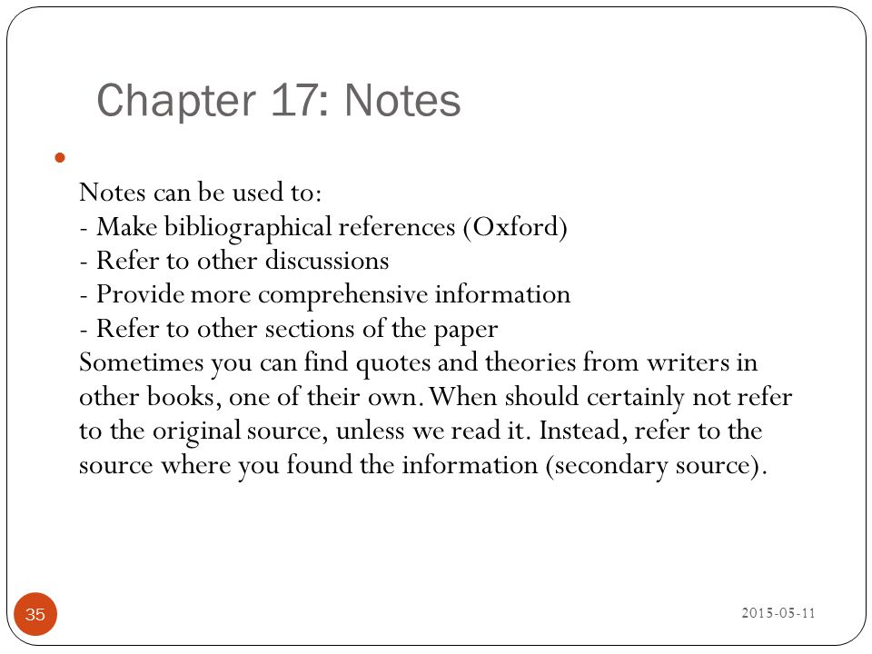 Chapter 17: Notes