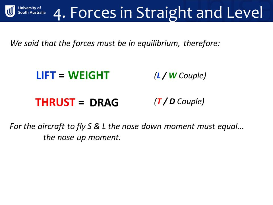 4. Forces in Straight and Level