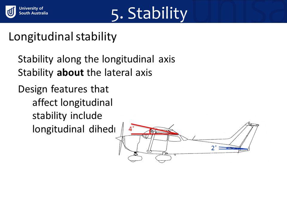 5. Stability Longitudinal stability
