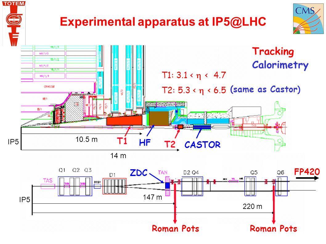 Experimental apparatus at IP5@LHC