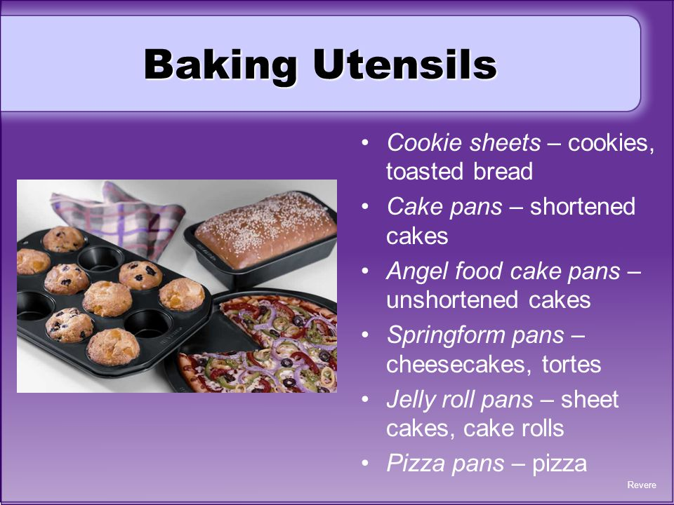 Baking Utensils Cookie sheets – cookies, toasted bread