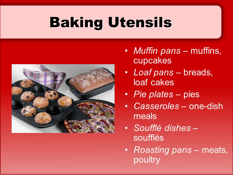 Baking Utensils Muffin pans – muffins, cupcakes