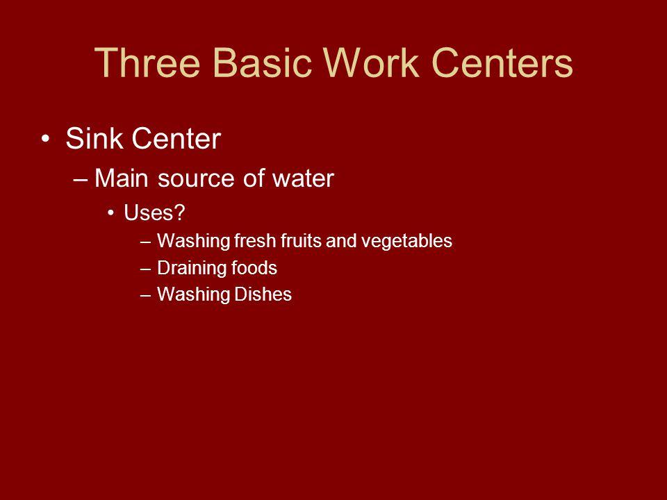 Three Basic Work Centers