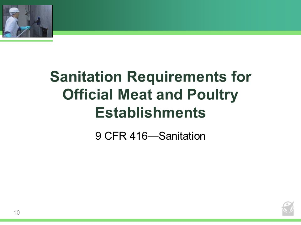 Sanitation Requirements for Official Meat and Poultry Establishments