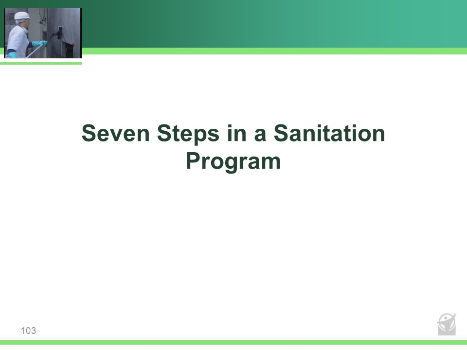 Seven Steps in a Sanitation Program