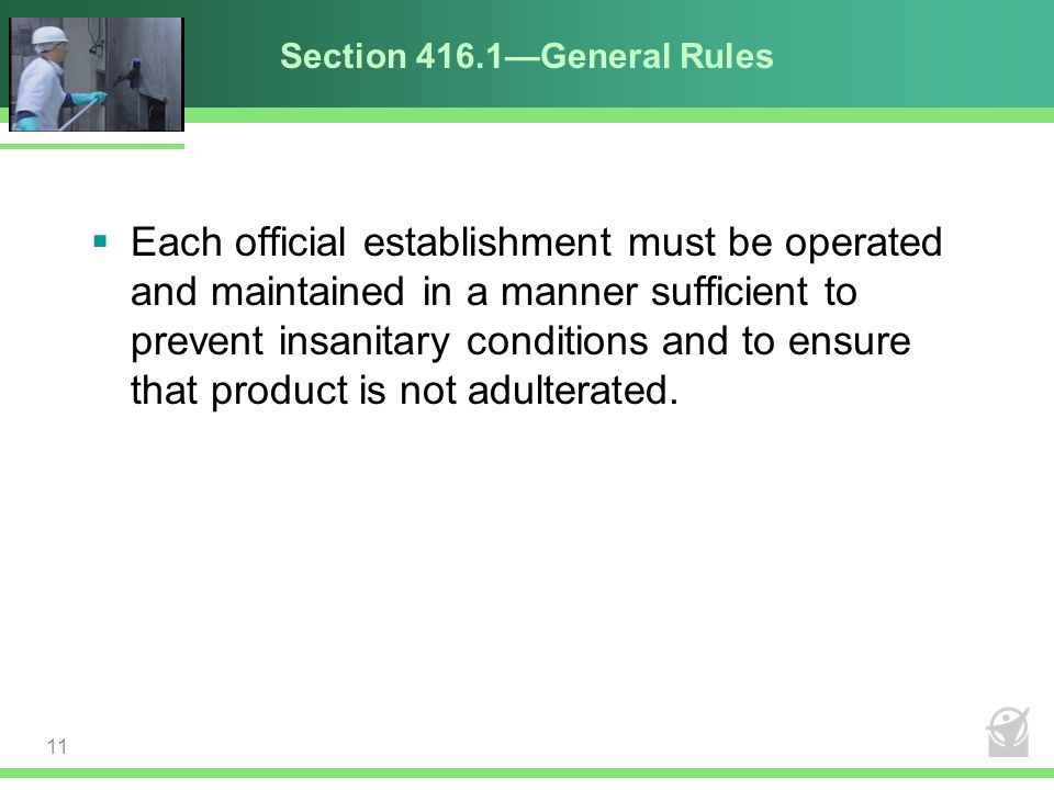 Section 416.1—General Rules