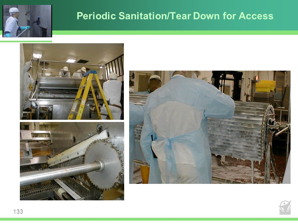 Periodic Sanitation/Tear Down for Access