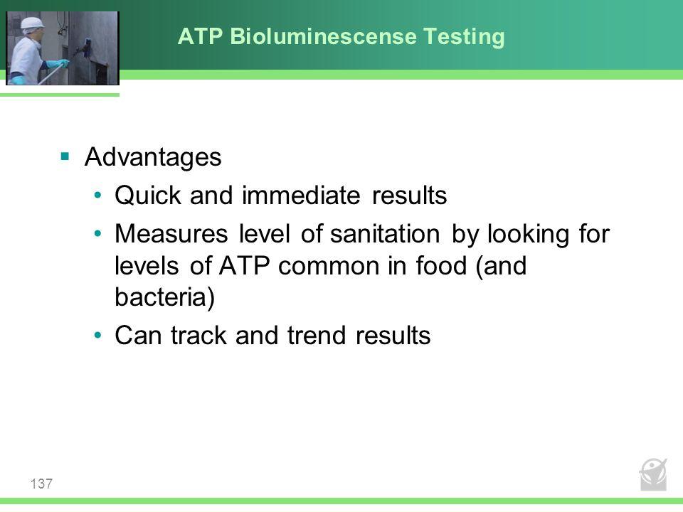ATP Bioluminescense Testing