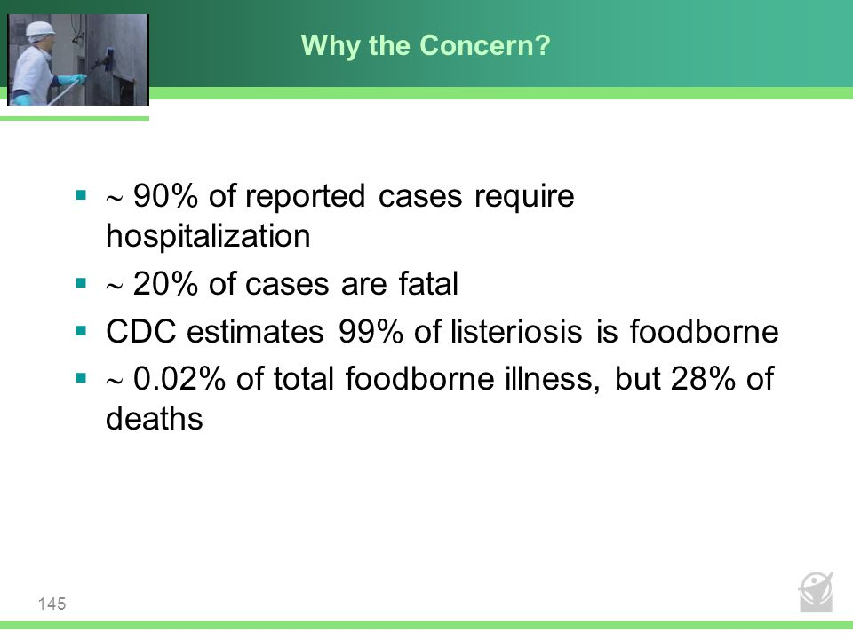  90% of reported cases require hospitalization