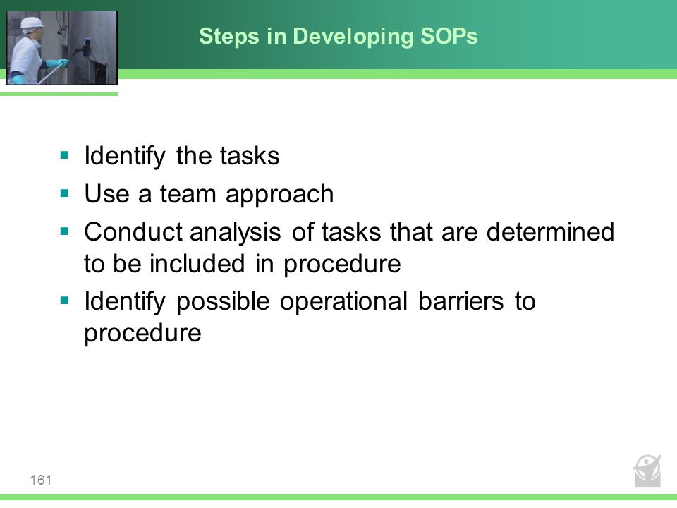 Steps in Developing SOPs