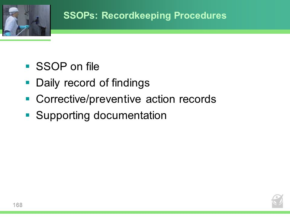 SSOPs: Recordkeeping Procedures
