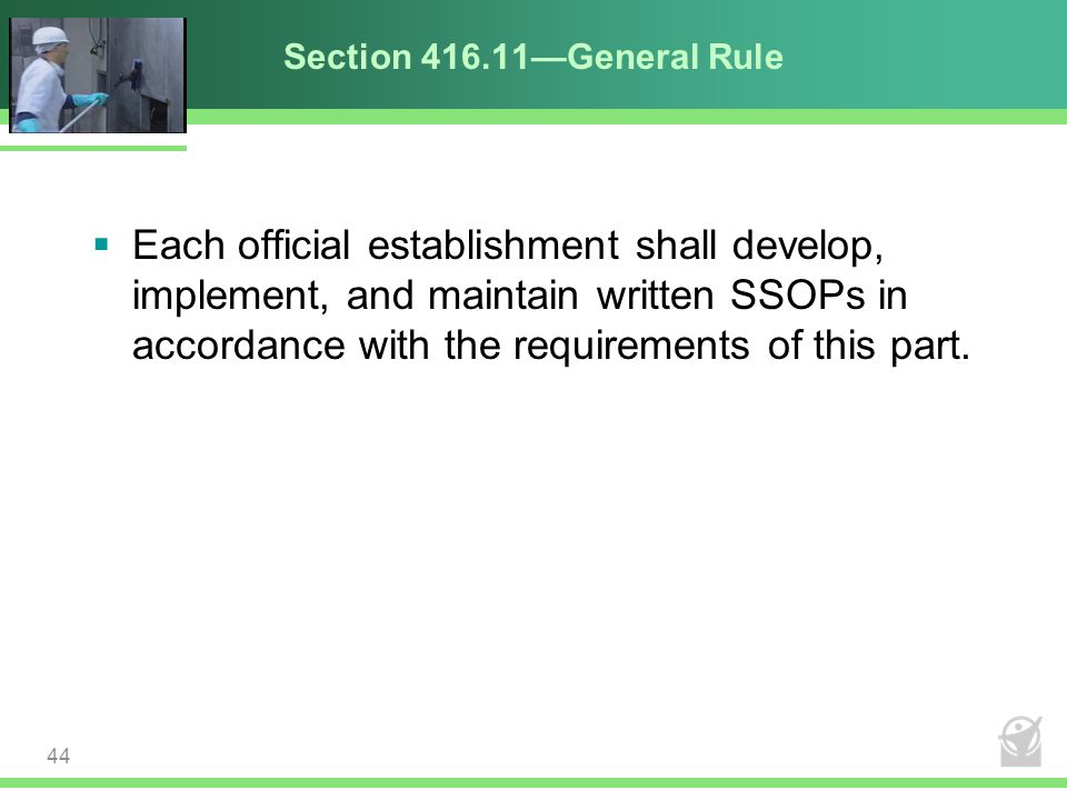 Section 416.11—General Rule