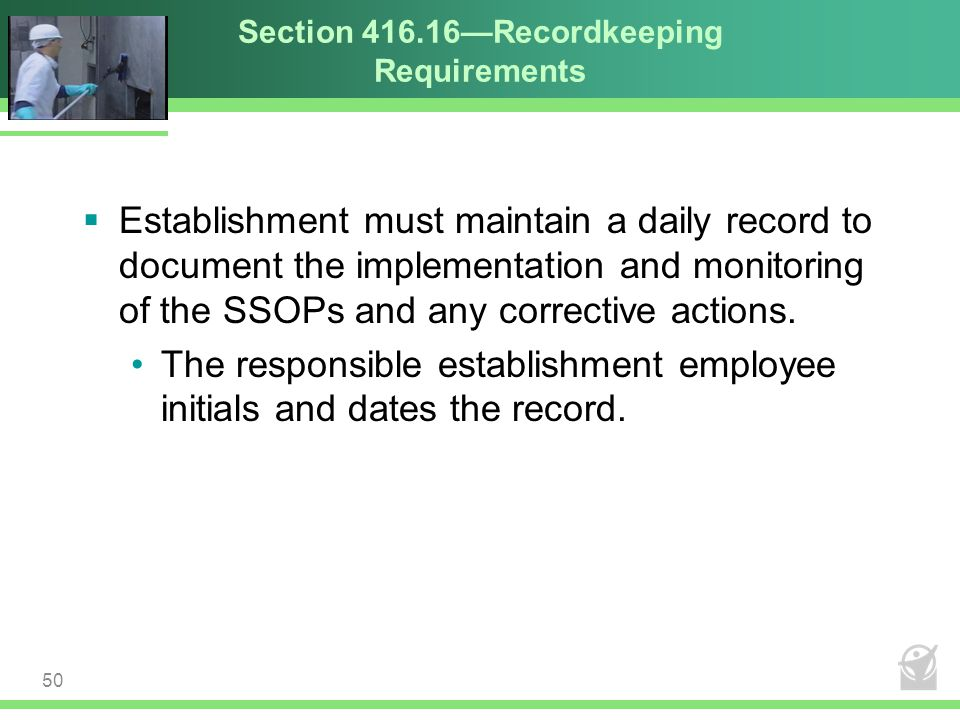 Section 416.16—Recordkeeping Requirements
