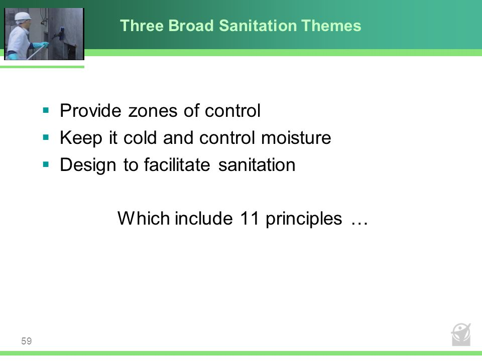 Three Broad Sanitation Themes