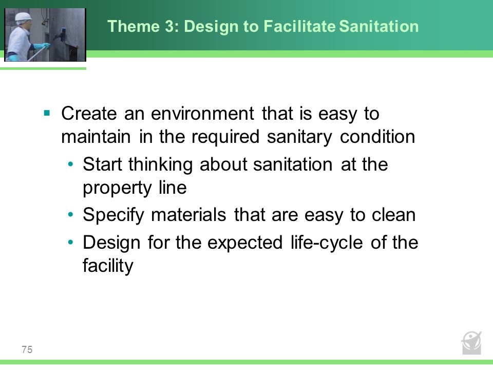 Theme 3: Design to Facilitate Sanitation
