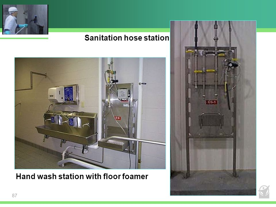Sanitation hose station