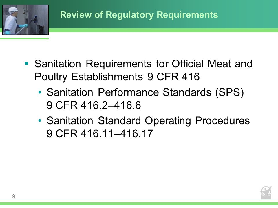 Review of Regulatory Requirements