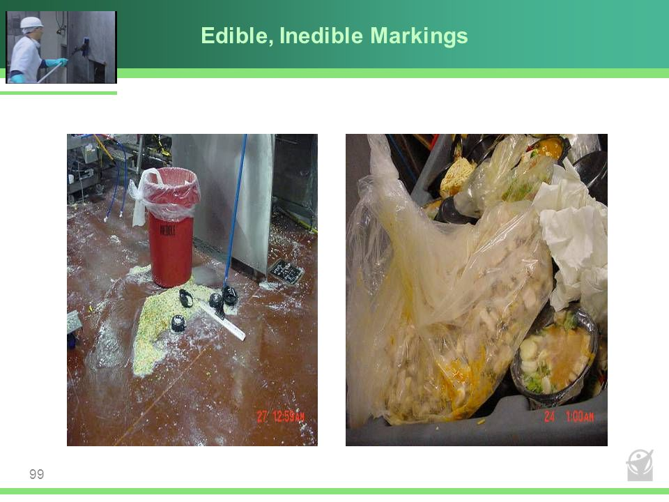 Edible, Inedible Markings