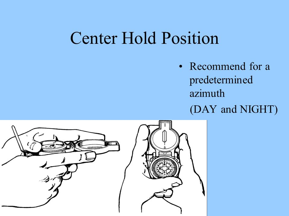 Center Hold Position Recommend for a predetermined azimuth