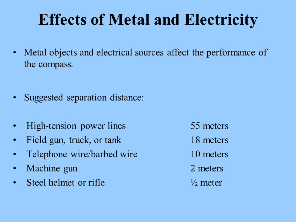 Effects of Metal and Electricity