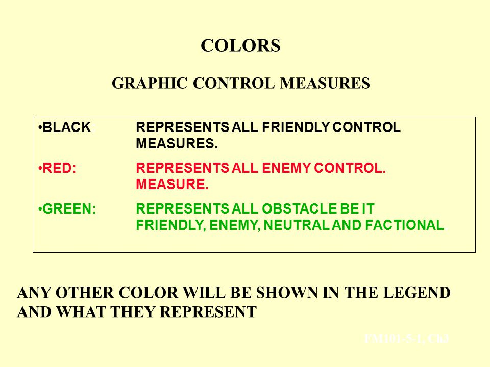COLORS GRAPHIC CONTROL MEASURES