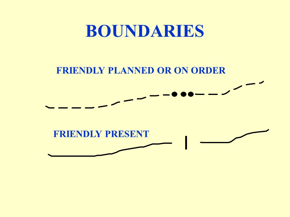BOUNDARIES FRIENDLY PLANNED OR ON ORDER FRIENDLY PRESENT