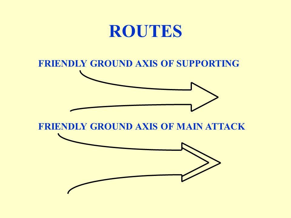 ROUTES FRIENDLY GROUND AXIS OF SUPPORTING