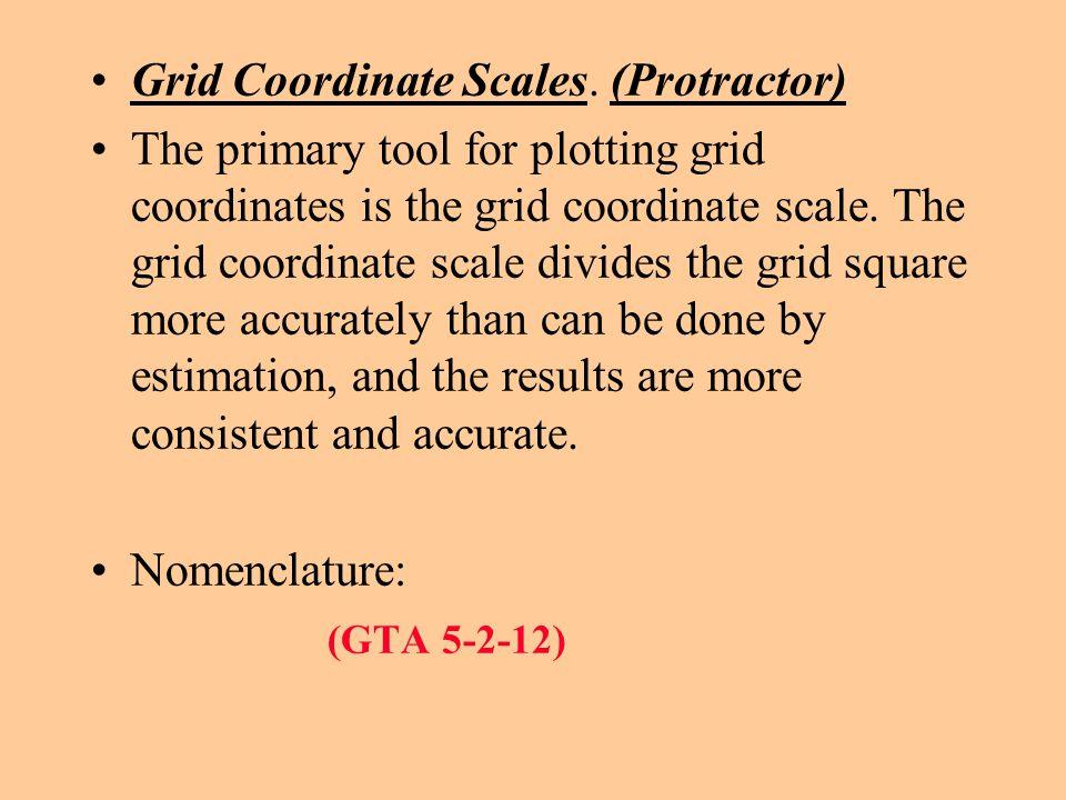 Grid Coordinate Scales. (Protractor)