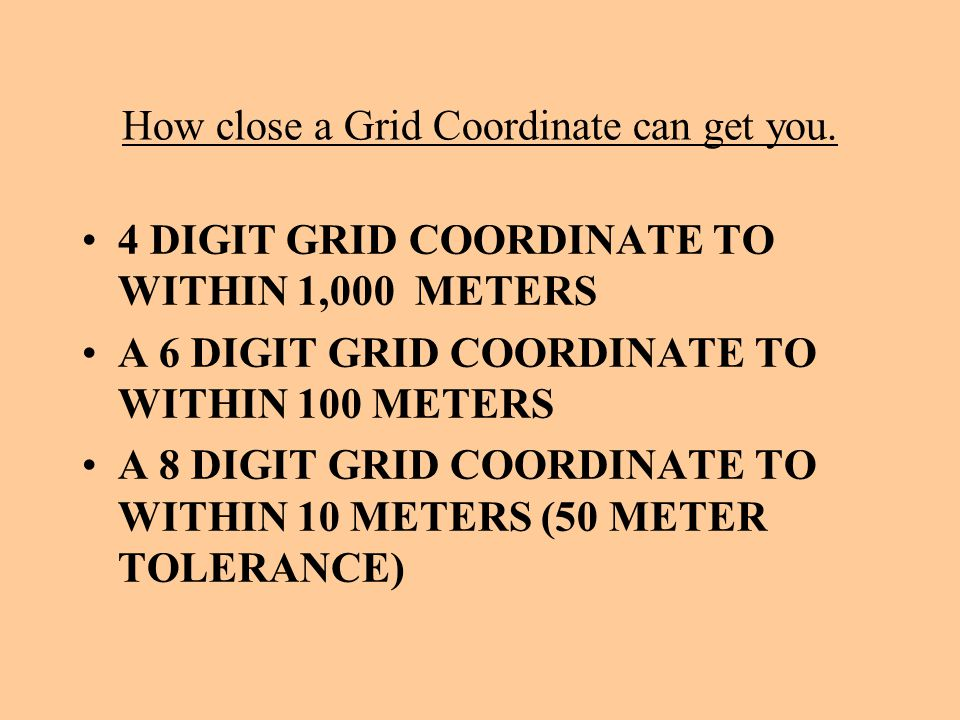 How close a Grid Coordinate can get you.