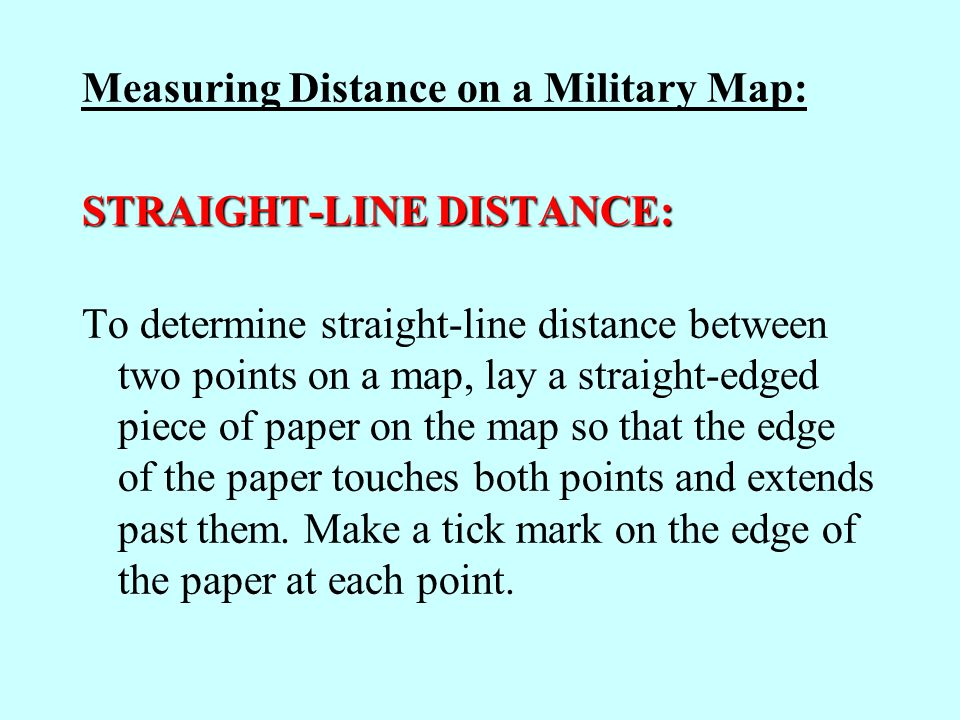 Measuring Distance on a Military Map:
