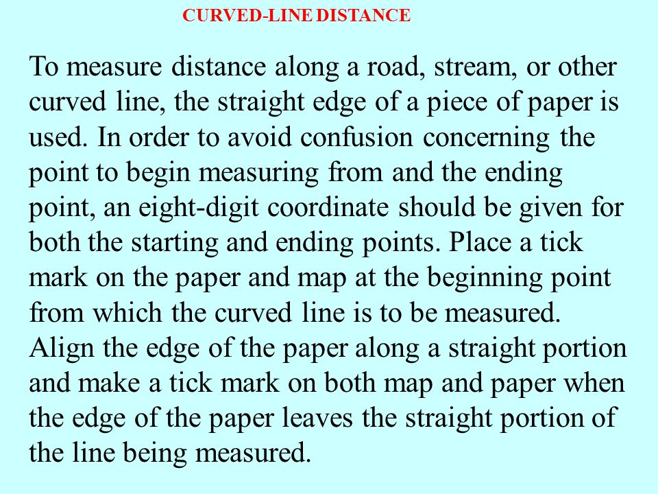 CURVED-LINE DISTANCE