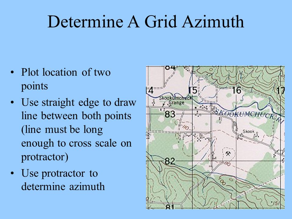 Determine A Grid Azimuth