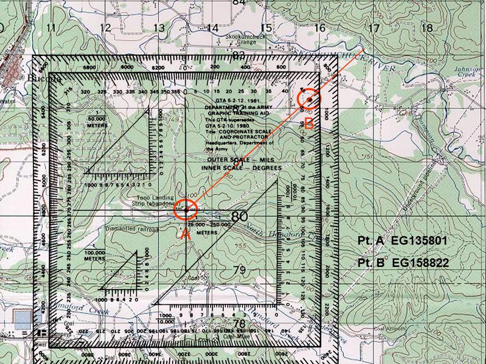 Map Azimuth B A Pt. A EG135801 Pt. B EG158822