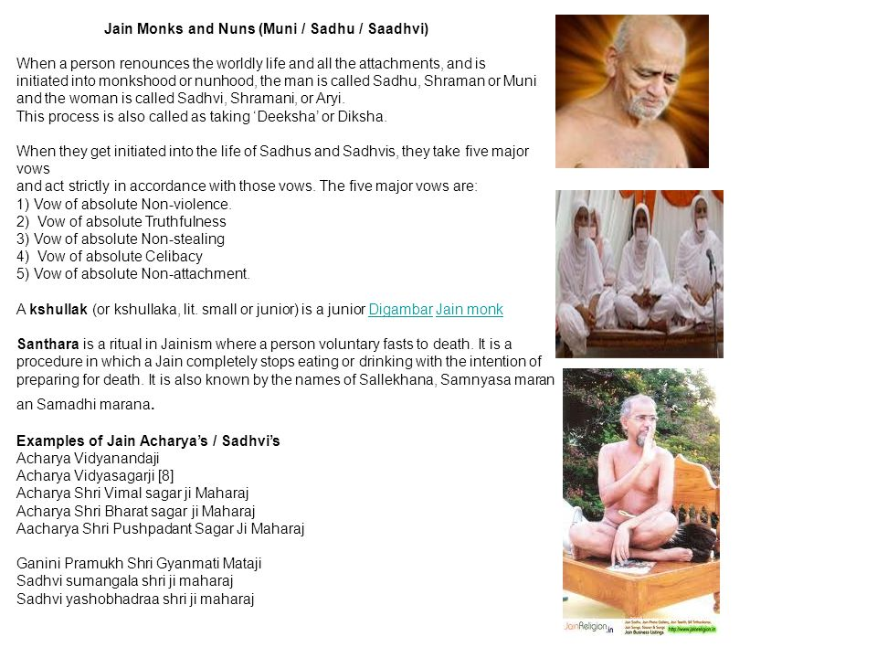 Jain Monks and Nuns (Muni / Sadhu / Saadhvi)