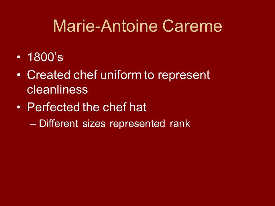 Marie-Antoine Careme 1800's