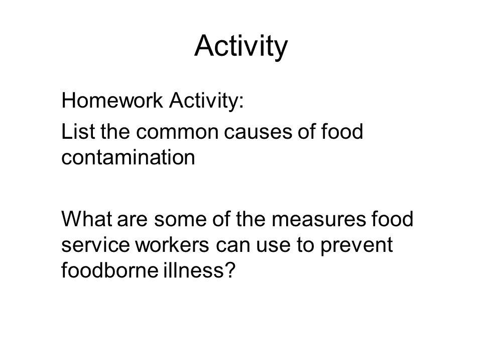 Activity Homework Activity: