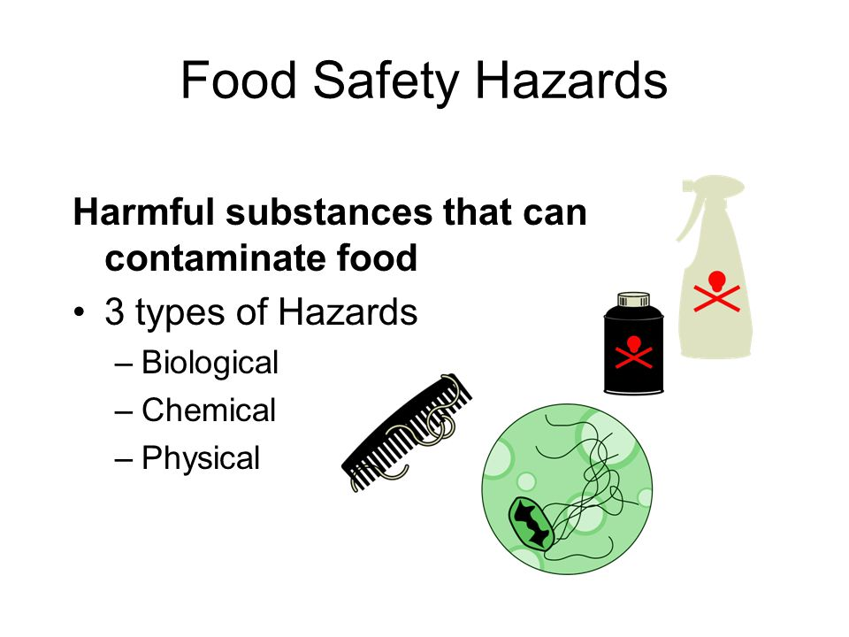 Food Safety Hazards Harmful substances that can contaminate food