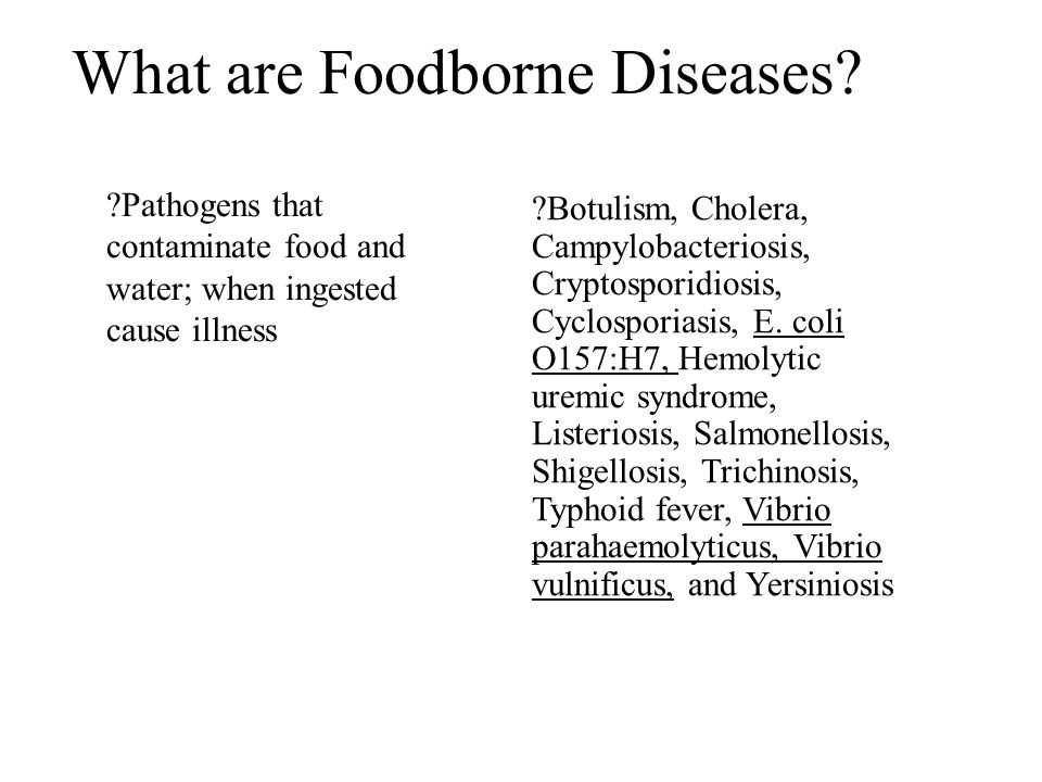 What are Foodborne Diseases