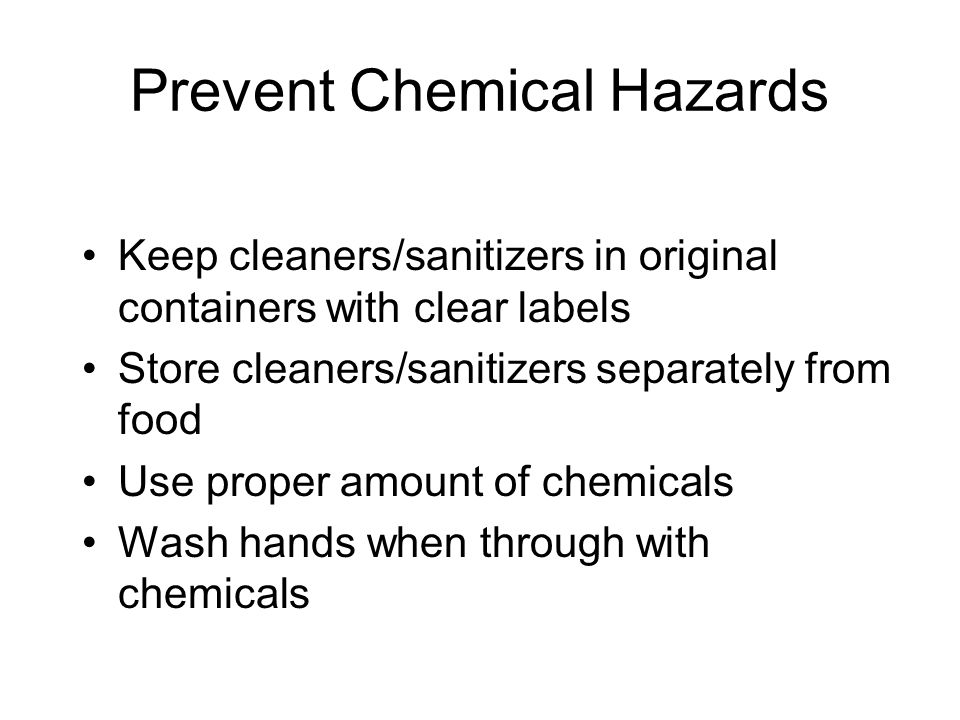 Prevent Chemical Hazards